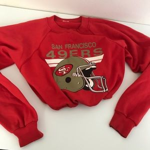 San Francisco 49ers drawstring crop sweatshirt
